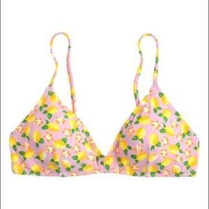 J. Crew | Lemon Print French Bikini Top